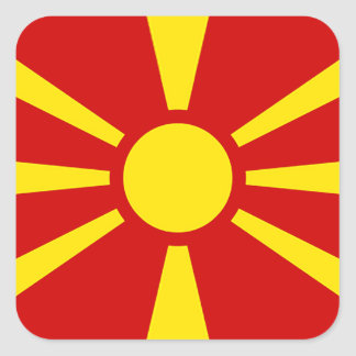 Flag of Republic of Macedonia Square Sticker