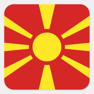Flag of Republic of Macedonia Square Sticker