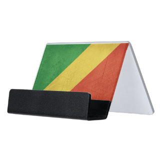Flag of Republic of the Congo Desk Business Card Holder