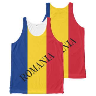 Flag of Romania All-Over Print Tank Top