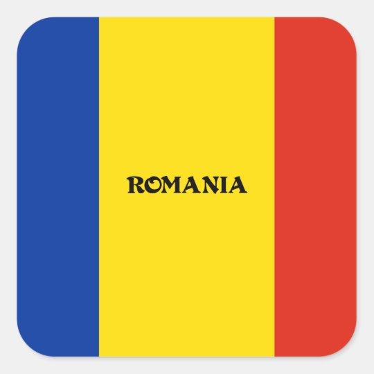 Flag of Romania Square Sticker