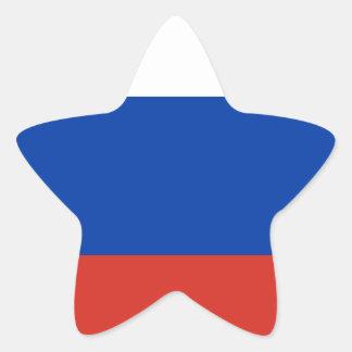 Flag of Russia - Флаг России - Триколор Trikolor Star Sticker