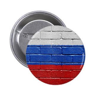 Flag of Russia 6 Cm Round Badge