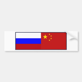 Flag of Russia - Flag of China Bumper Sticker