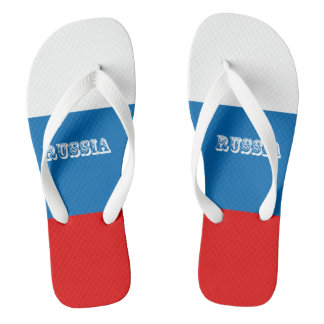 Flag of Russia Flip Flops