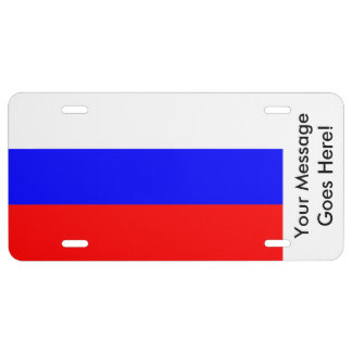 Flag of Russia License Plate