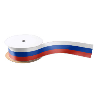 Flag of Russia ribbon Satin Ribbon