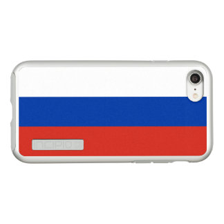 Flag of Russia Silver iPhone Case
