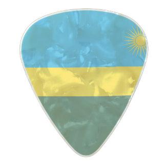 Flag of Rwanda Guitar Picks Pearl Celluloid Guitar Pick