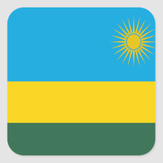 Flag of Rwanda Square Stickers