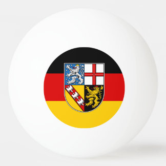 Flag of Saarland Ping Pong Ball