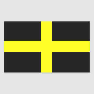 Flag of Saint David - Baner Dewi Sant Rectangular Sticker