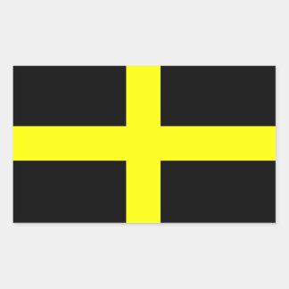 Flag of Saint David Rectangle Sticker