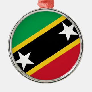 Flag of Saint Kitts and Nevis Christmas Ornament