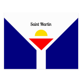 Flag of Saint Martin Postcard