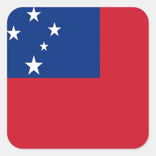 Flag of Samoa Square Sticker