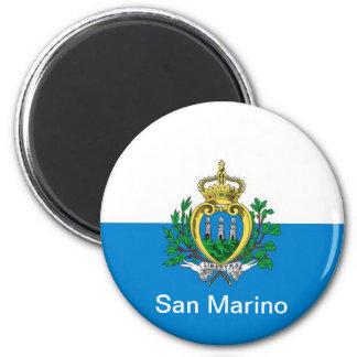 flag of San Marino Refrigerator Magnet