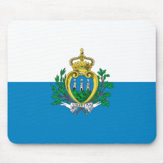 Flag of San Marino Mousepads
