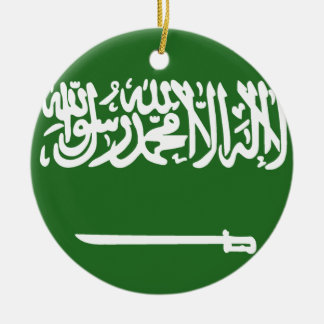 Flag of Saudi Arabia Round Ceramic Decoration