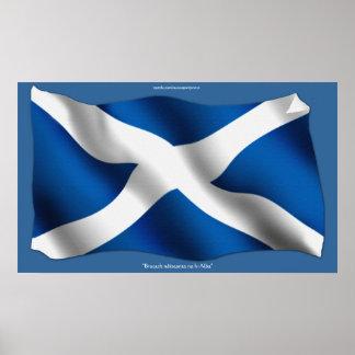 Flag of Scotland Bratach nàiseanta na h-Alba Print