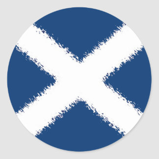 Flag of Scotland Classic Round Sticker