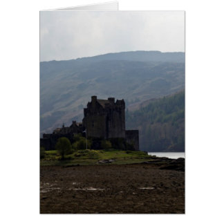 Flag of Scotland in front of Eilean Donan Castle Greeting Card