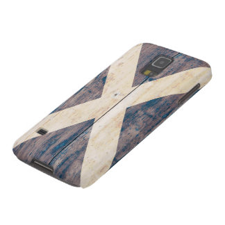 Flag of Scotland on Wood Galaxy S5 Case