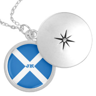 Flag of Scotland or Saltire Locket Necklace