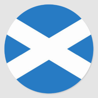 Flag of Scotland or Saltire Round Sticker