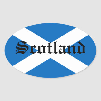 Flag of Scotland Oval Sticker