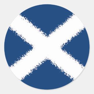 Flag of Scotland Round Sticker