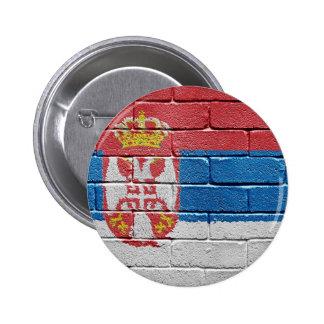 Flag of Serbia 6 Cm Round Badge