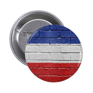 Flag of Serbia and Montenegro 6 Cm Round Badge