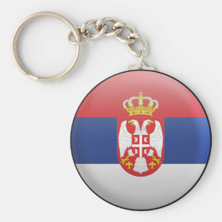 Flag of Serbia Key Ring
