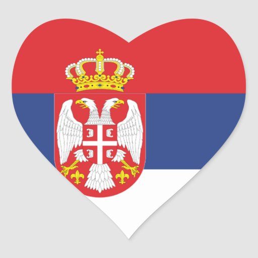 Flag of Serbia Stickers