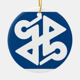 Flag of Shinjuku Round Ceramic Decoration