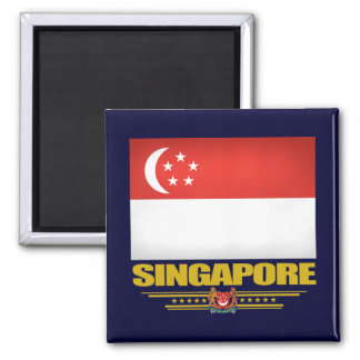 Flag of Singapore Square Magnet