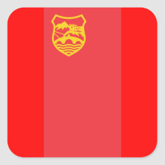 FLAG OF SKOPJE SQUARE STICKER