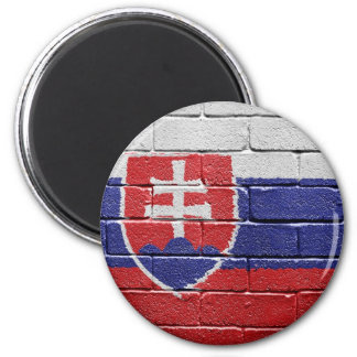 Flag of Slovakia 6 Cm Round Magnet