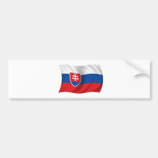 Flag of Slovakia Bumper Sticker