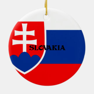 Flag of Slovakia Christmas Ornament