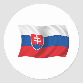 Flag of Slovakia Classic Round Sticker