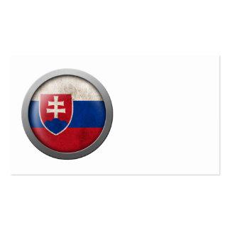 Flag of Slovakia Disc Business Cards