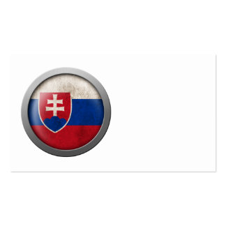 Flag of Slovakia Disc Pack Of Standard Business Cards