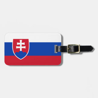 Flag of Slovakia Easy ID Personal Luggage Tag