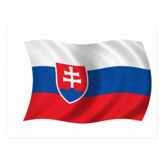 Flag of Slovakia Postcard