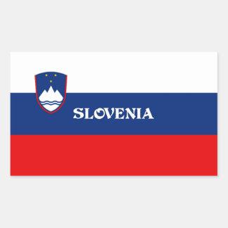 Flag of Slovenia, labeled Rectangular Sticker