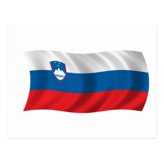 Flag of Slovenia Postcard