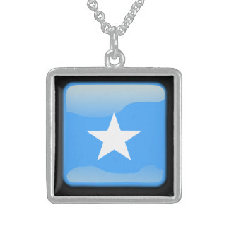 Flag of Somalia Sterling Silver Necklace