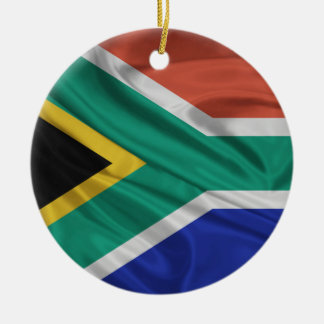 Flag of South Africa Round Ceramic Decoration